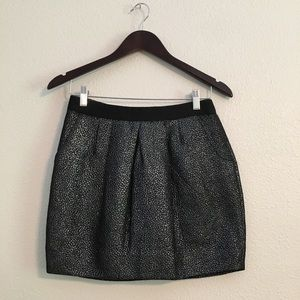 Anthropologie Leifsdottir Metallic Silver Skirt 4